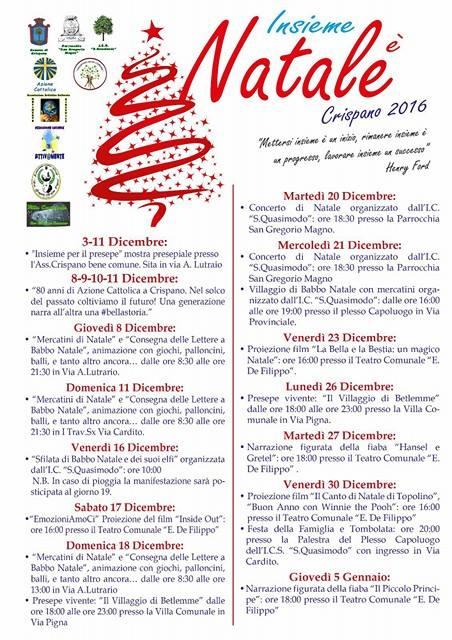 Natale 2016 Crispano